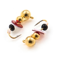 Tungsten mormishka Akara Ant with an eyelet (no bait) with paillettes and beads
