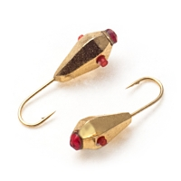 Tungsten mormishka Akara Tear drop with a hole with facets with kembrik (plastic tube) with crystal